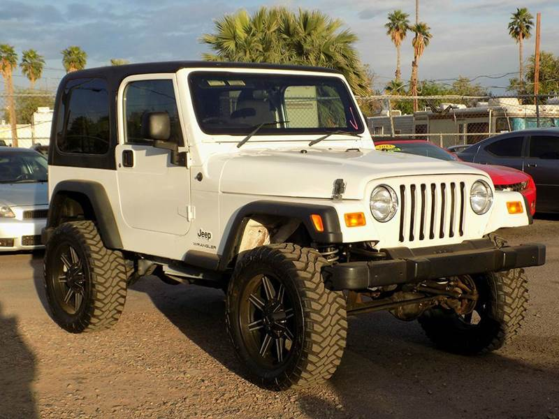 2004 JEEP WRANGLER SPORT 4WD 2DR SUV white come down to discount auto sales and check out this rar
