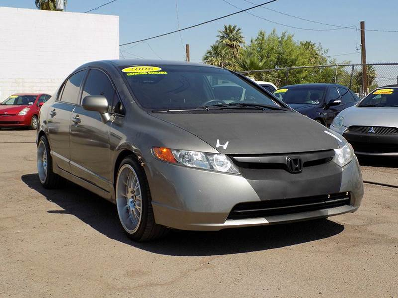 2006 HONDA CIVIC LX 4DR SEDAN WMANUAL gray are you in the market for a sporty looking 4 door seda