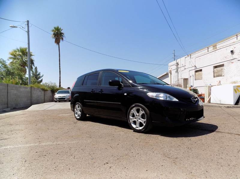 2008 MAZDA MAZDA5 SPORT 4DR MINI VAN 23L I4 5A black financing available all prices are subje