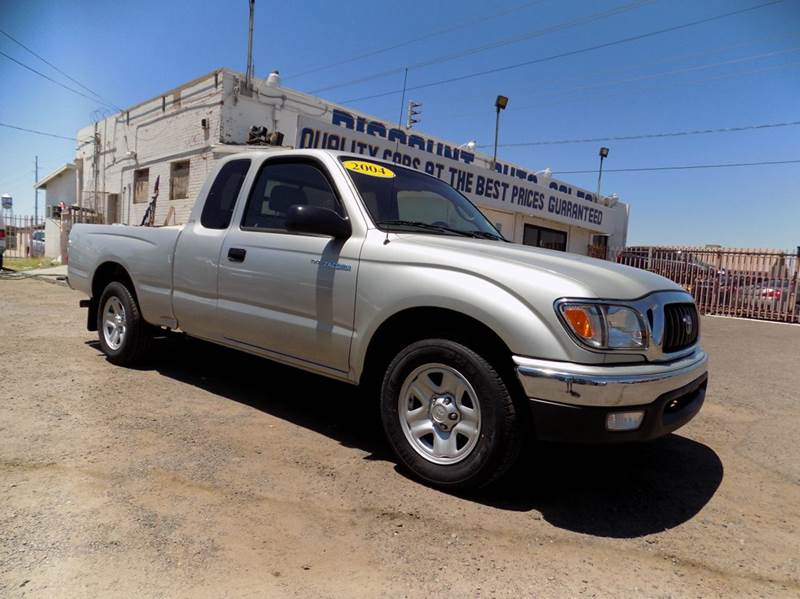 2004 TOYOTA TACOMA BASE 2DR XTRACAB RWD SB silver financing available all prices are subject to