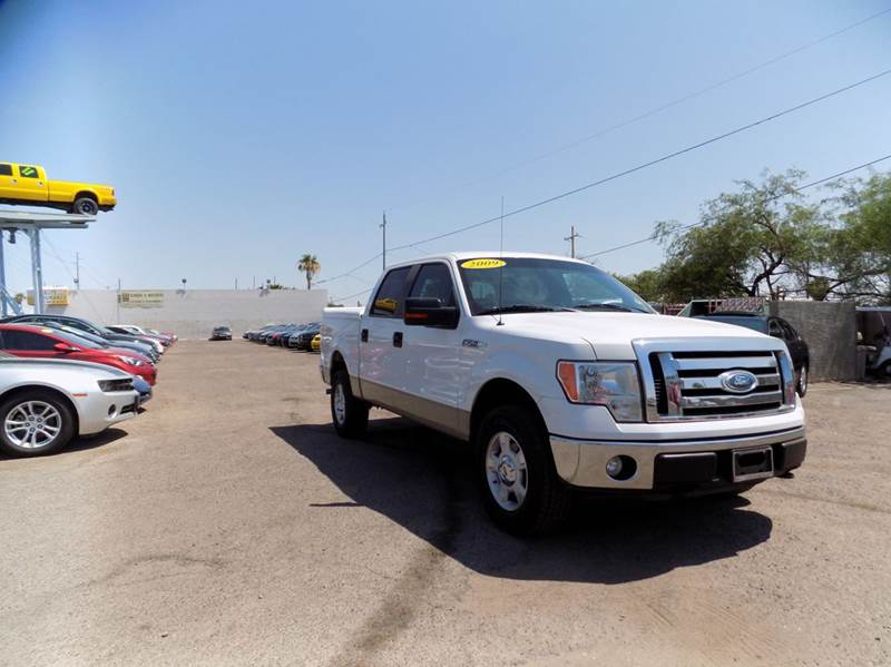 2009 FORD F-150 XLT 4X4 4DR SUPERCREW STYLESIDE white financing available all prices are subject