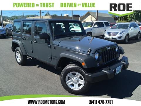 2016 Jeep Wrangler Unlimited for sale in Grants Pass, OR