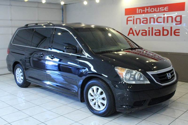 2008 HONDA ODYSSEY EX-L WNAVI WDVD 4DR MINI VAN black abs - 4-wheel airbag deactivation - occu