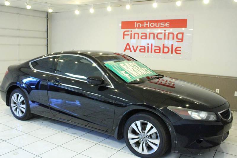 2008 HONDA ACCORD EX-L 2DR COUPE 5A black abs - 4-wheel active head restraints - dual front air