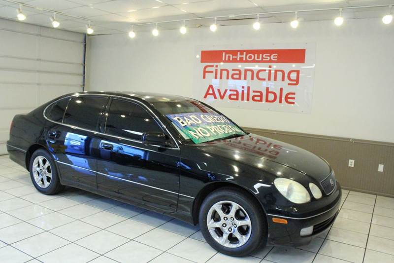 2002 LEXUS GS 300 BASE 4DR SEDAN black abs - 4-wheel anti-theft system - alarm cassette center