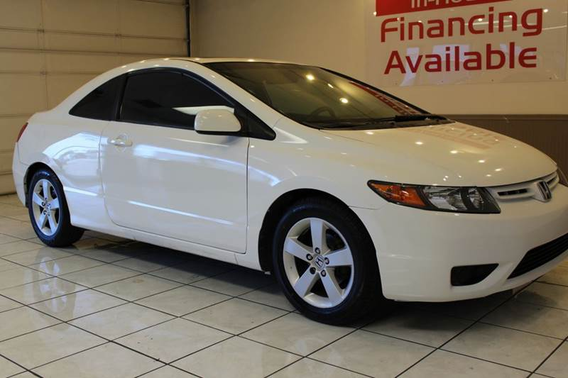 2006 HONDA CIVIC EX 2DR COUPE WMANUAL white abs - 4-wheel air filtration airbag deactivation -