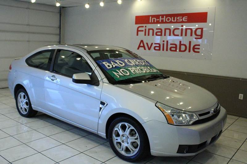2008 FORD FOCUS SE 2DR COUPE silver 2-stage unlocking airbag deactivation - occupant sensing pas