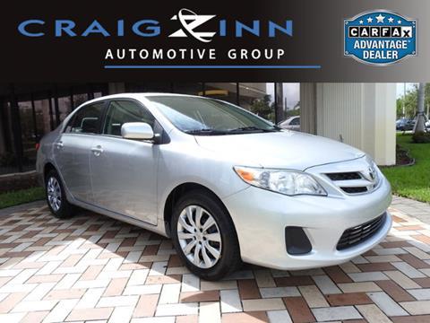 2012 Toyota Corolla for sale in Pembroke Pines, FL