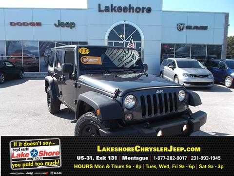 2017 Jeep Wrangler Unlimited for sale in Montague MI