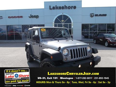 2016 Jeep Wrangler for sale in Montague MI