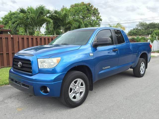 2007 TOYOTA TUNDRA SR5 4DR DOUBLE CAB SB blue bumper color chrome front air conditioning front