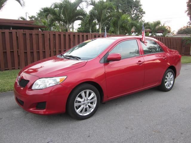 2010 TOYOTA COROLLA red door handle color body-color steering ratio 174 turns lock-to-lock