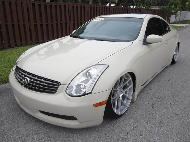 2003 INFINITI G35 BASE 2DR COUPE WLEATHER white front air conditioning front air conditioning