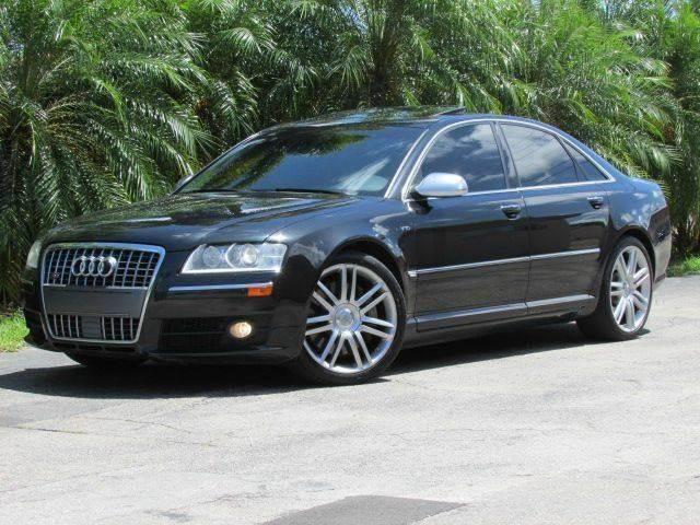 2007 AUDI S8 QUATTRO AWD 4DR SEDAN phantom black pearl effect grille color chrome air filtration