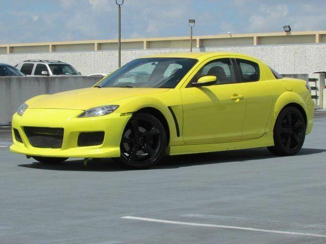 2004 MAZDA RX-8 BASE 4DR COUPE yellow front air conditioning steering wheel trim leather cente