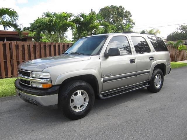 2002 CHEVROLET TAHOE LS 2WD 4DR SUV champagne bumper color chrome front air conditioning cente