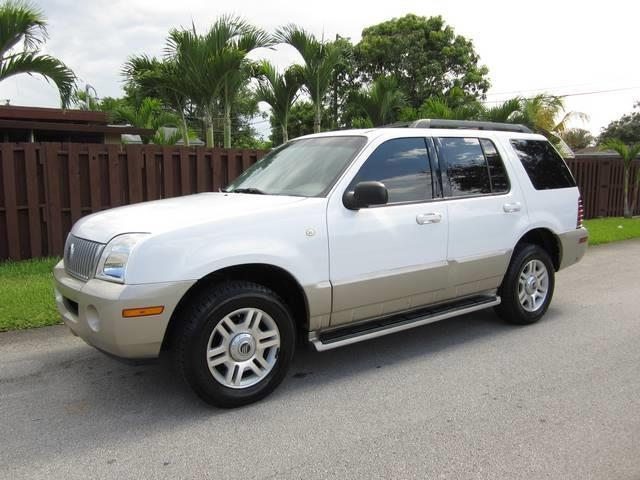 2005 MERCURY MOUNTAINEER BASE 4DR SUV white front air conditioning front air conditioning zones