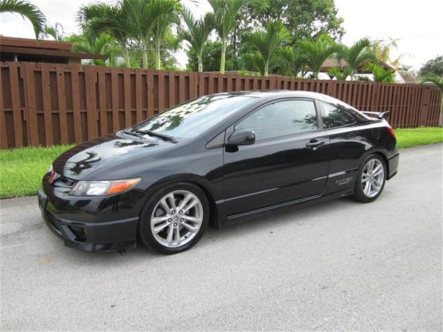 2007 HONDA CIVIC SI 2DR COUPE black rear spoiler air filtration door trim simulated alloy flo