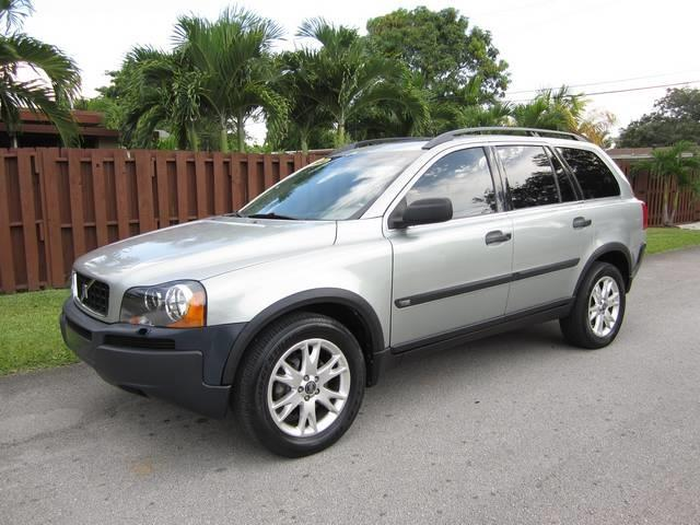 2004 VOLVO XC90 25T 4DR TURBO SUV silver skid plates front air conditioning front air condit