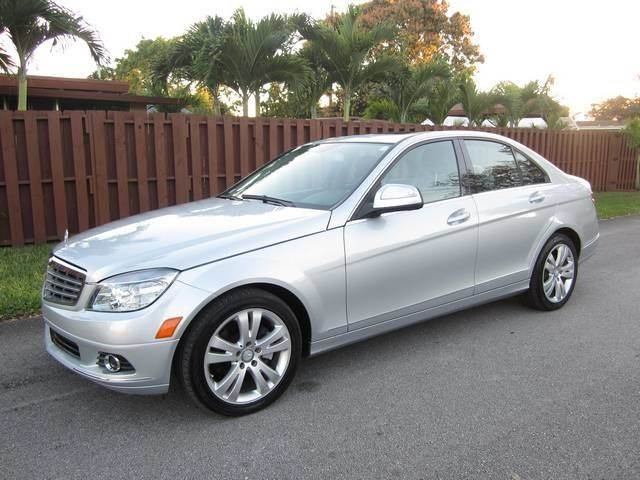2009 MERCEDES-BENZ C-CLASS C300 LUXURY 4DR SEDAN silver exhaust tip color chrome dual exhaust t