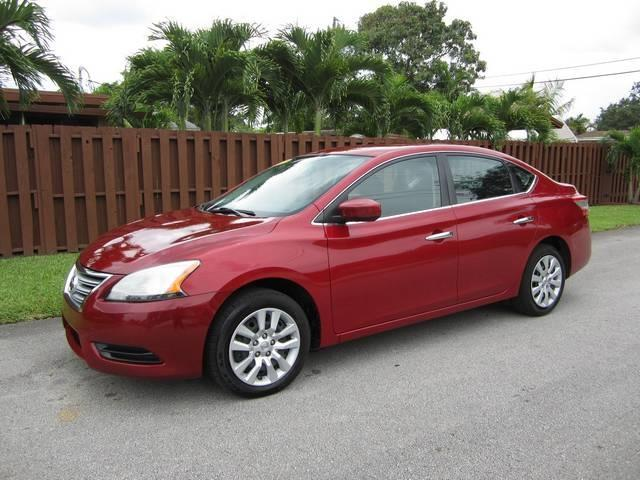 2013 NISSAN SENTRA FE S 4DR SEDAN red door handle color chrome front bumper color body-color