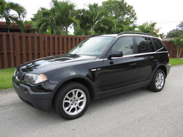 2004 BMW X3 25I AWD 4DR SUV black rear spoiler front air conditioning interior accents wood-t