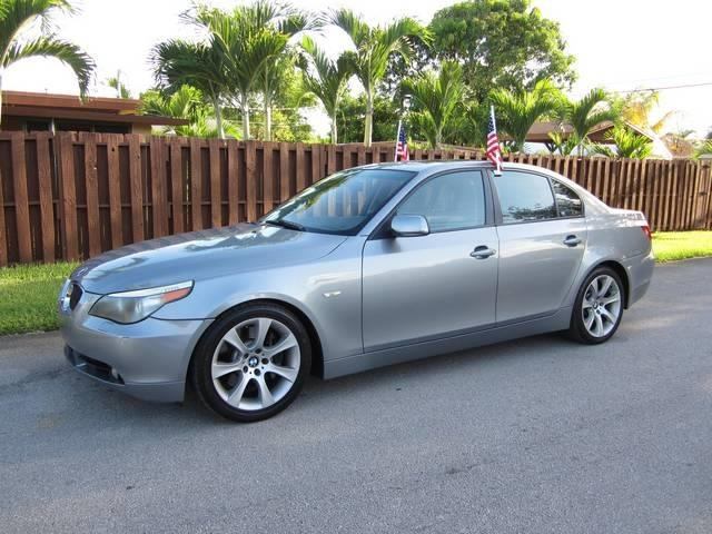 2005 BMW 5 SERIES 545I 4DR SEDAN silver beverage cooler center console trim wood dash trim al