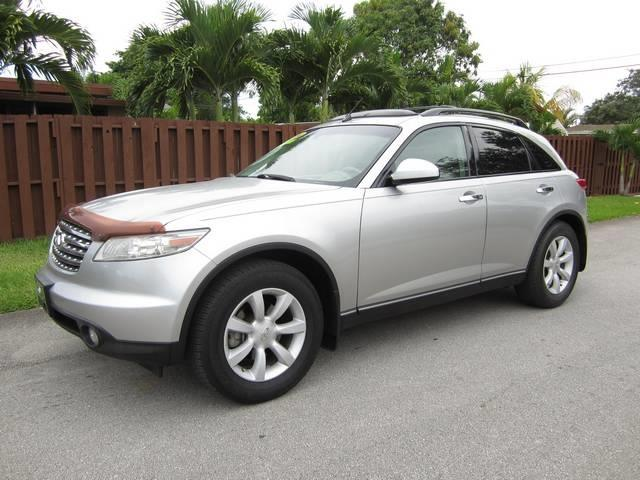 2004 INFINITI FX35 BASE RWD 4DR SUV silver rear spoiler front air conditioning front air condit