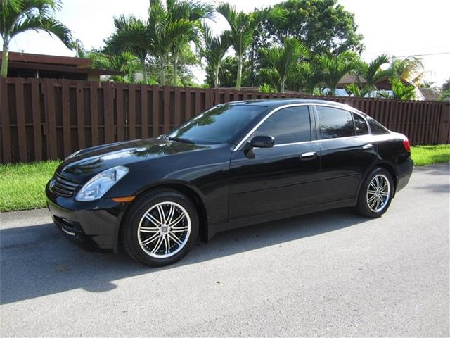 2004 INFINITI G35 BASE AWD 4DR SEDAN WLEATHER black front air conditioning front air conditioni