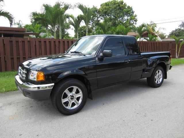 2002 FORD RANGER EDGE 2DR SUPERCAB 2WD SB black center console power steering abs 4-wheel axl