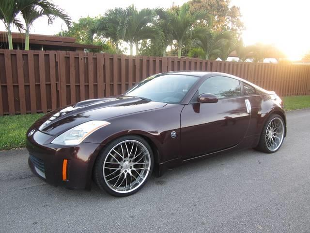 2003 NISSAN 350Z ENTHUSIAST 2DR HATCHBACK purple front air conditioning shift knob trim leather