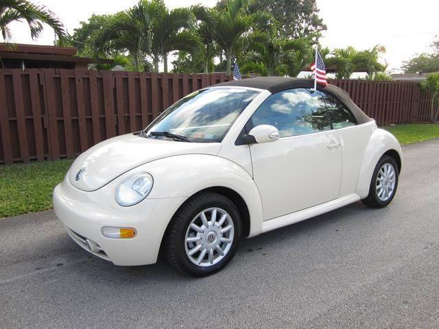 2005 VOLKSWAGEN NEW BEETLE DARK FLINT EDITION 2DR CONVERTIB champagne front air conditioning fro