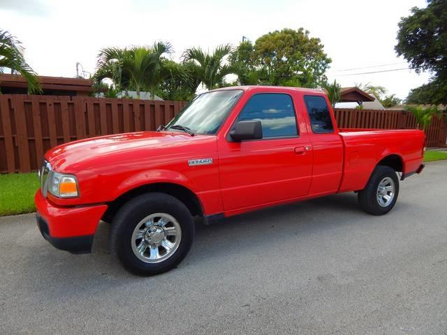 2006 FORD RANGER SPORT 2DR SUPERCAB STYLESIDE SB red bumper detail painted cupholders power ou
