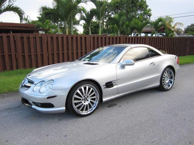 2003 MERCEDES-BENZ SL-CLASS SL500 2DR CONVERTIBLE silver front air conditioning front air condit