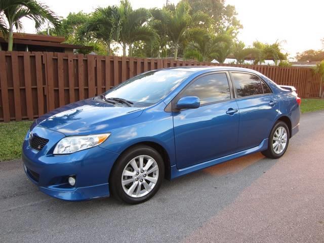 2009 TOYOTA COROLLA blue door handle color body-color grille color black steering ratio 174