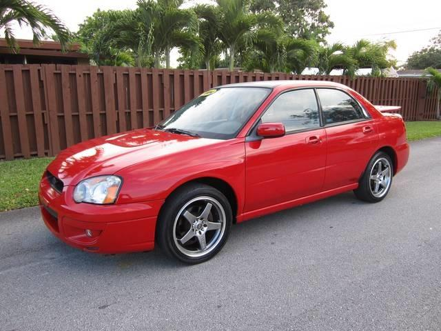 2004 SUBARU IMPREZA 25 RS AWD 4DR SEDAN red front air conditioning shift knob trim leather st