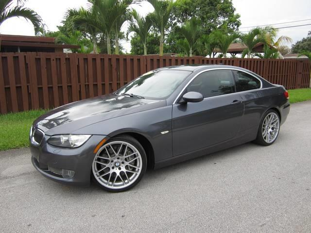 2007 BMW 3 SERIES 335I 2DR COUPE black sapphire metallic grille color chrome air filtration ac