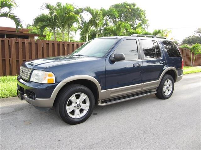 2003 FORD EXPLORER EDDIE BAUER 4DR SUV dk blue front air conditioning front air conditioning zo