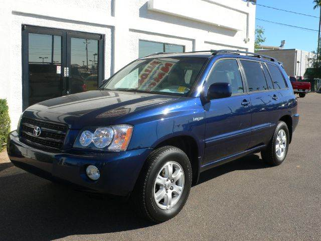 2003 TOYOTA HIGHLANDER LIMITED V6 2WD blue abs brakesair conditioningalloy wheelsamfm radioan