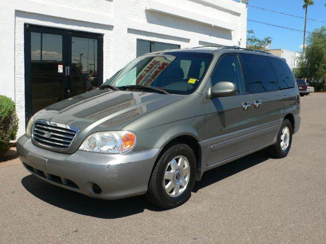 2003 KIA SEDONA EX sage green air conditioningalloy wheelsamfm radioanti-brake system non-abs
