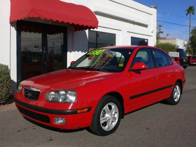 2003 HYUNDAI ELANTRA GT 4-DOOR red air conditioningalloy wheelsamfm radioanti-brake system no