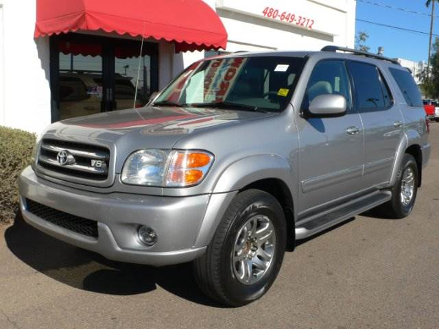 2003 TOYOTA SEQUOIA LIMITED 2WD silver abs brakesair conditioningalloy wheelsamfm radioanti-b