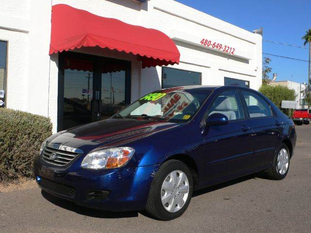 2008 KIA SPECTRA EX blue air conditioningamfm radioanti-brake system non-absautomatic headlig