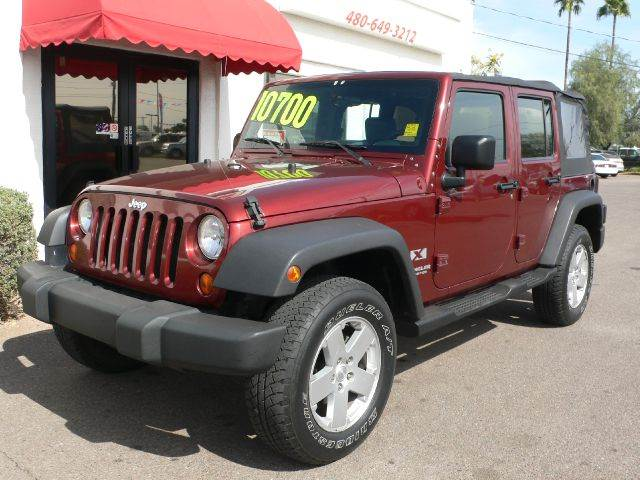2007 JEEP WRANGLER UNLIMITED UNLIMITED X 2WD burgandy new jasper motor  cost over 5000 dollars