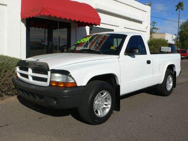 2003 DODGE DAKOTA SXT 2WD white abs brakesair conditioningalloy wheelsamfm radioanti-brake sy