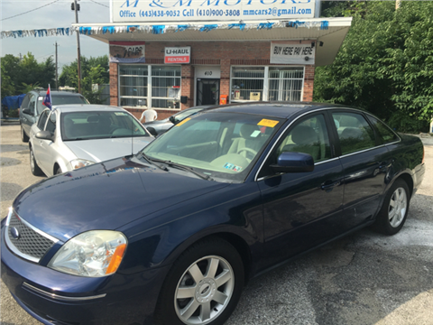 Ford Five Hundred For Sale Maryland