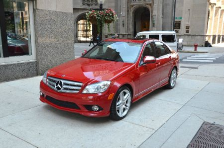 2008 MERCEDES-BENZ C-CLASS C300 SPORT SEDAN red call 1-877-775-0217 for sales this beautiful
