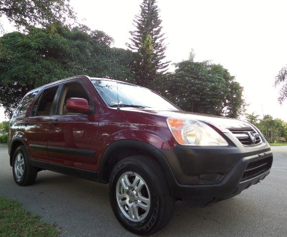 2002 HONDA CR-V EX 4WD burgundy call 1-877-775-0217 for sales this 1 owner 2002 honda crv-ex