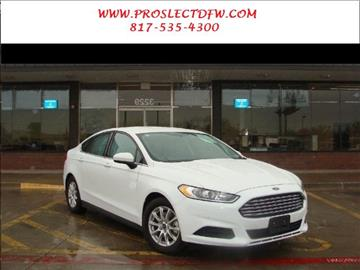 2015 Ford Fusion for sale in Forest Hill, TX