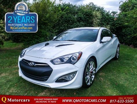2013 Hyundai Genesis Coupe for sale in Arlington, TX